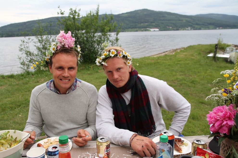 boys with flowers in the hair